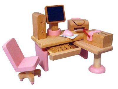 Computerkamer set met Barbie roze details