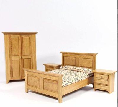 Landelijke slaapkamerset, 4 delig
