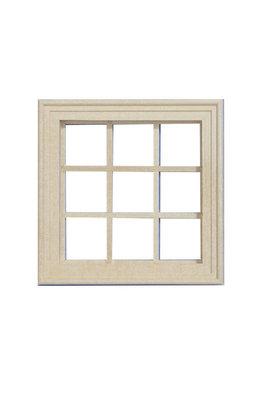 Vierkant raamkozijn met 9 ramen