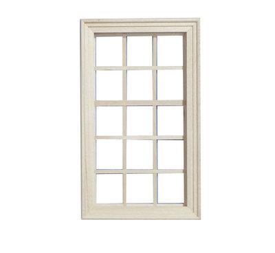 Groot raamkozijn met 15 ramen
