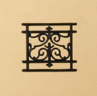 Zwart plastic railing 43*48 mm