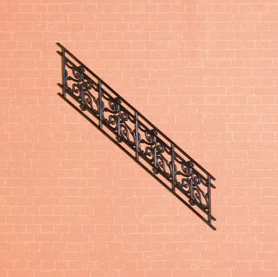 Zwart plastic traprailing 41*163 mm