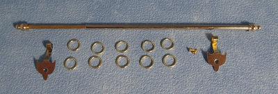 Uitschuifbare gordijnrails inclusief ringen