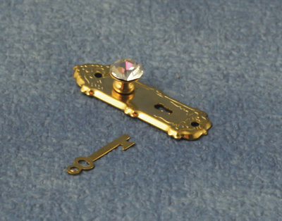 Koperen kristallen deurknoppen