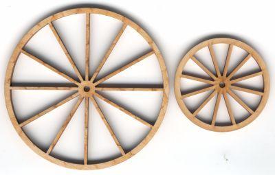 Koetswielen van hout, zeer filigrane uitvoeringen