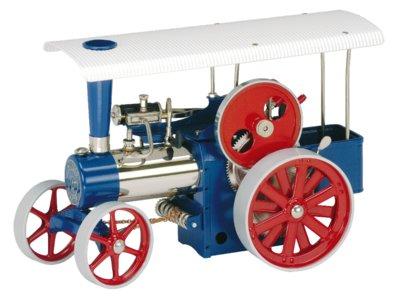 Stoomtractor blauw D405