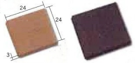 Tegels 24*24 mm ZWART