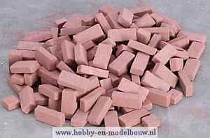 Rode baksteentjes gemengd