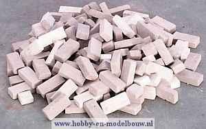 Bruine baksteentjes gemengd