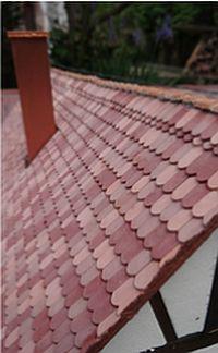 Platte dakpan beverstaart medium rood