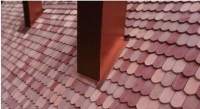 Platte dakpan beverstaart rood