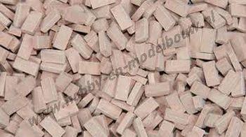 Middel terrracotta steen 1:72. Afm.: 3,6 x 1,8 x 0,9 mm