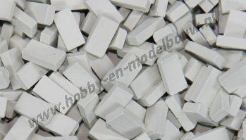 Lichtgrijze steen 1:87. Afm.: 2,8 x 1,3 x 0,8 mm