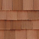 Cederhouten dakpannen, rechthoekig