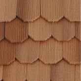 Cederhouten dakpannen, zeshoekig