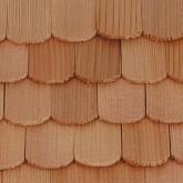 Cederhouten dakpannen, visschub