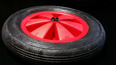 Rood/zwart wiel 165 mm met profielband