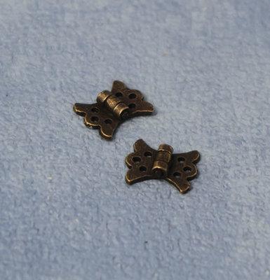 Antieke vlinder scharnieren