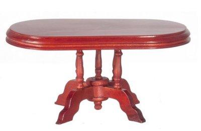 Ovale tafel, onderdeel van 6-Delige mahoniehouten eetkamerset 00802