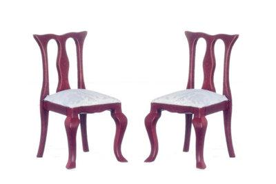 Eetkamer stoelen, onderdeel van 6-Delige mahoniehouten eetkamerset 00802