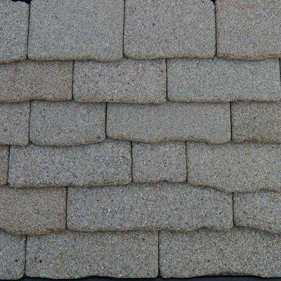 Echt stenen dakplaten, grijs