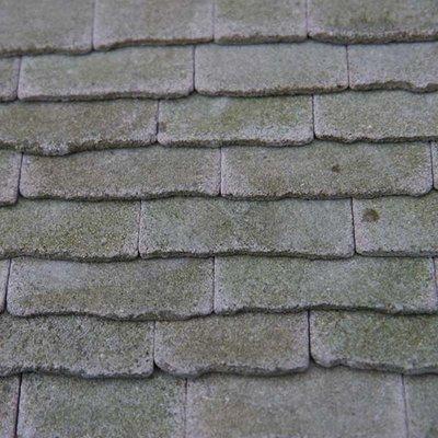 Echt stenen dakplaten, verweerd grijs