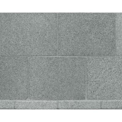 Plavuizen van 50,8*38*2 mm, kleur grijze steen