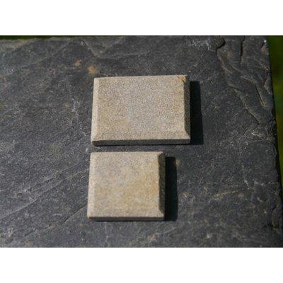 echt stenen QUOINS, kleur Greenstone