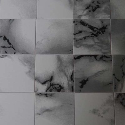 Vinyl tegels 26*26*0.6 mm, kleur donkergetint wit/marmerachtig
