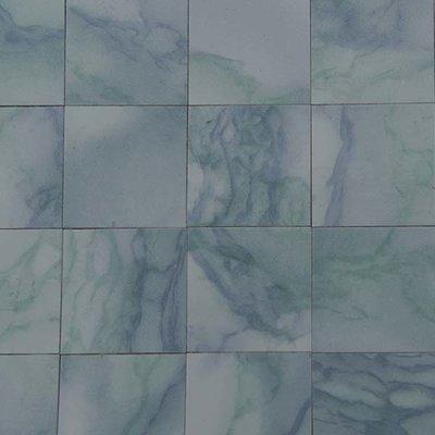 Vinyl tegels 26*26*0.6 mm, kleur oceaan gegolfd/marmerachtig