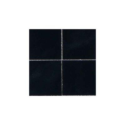 Keramische tegel 26*26*2 mm, kleur: zwart/marmer