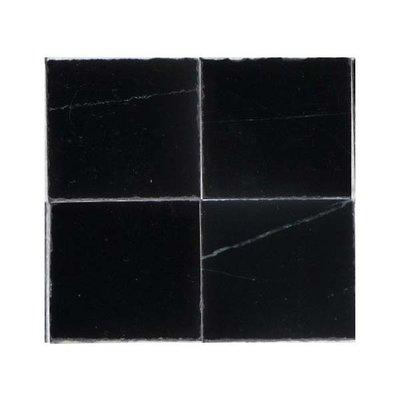 Echt marmeren tegels, 25*25*2 mm, kleur zwart/marmer