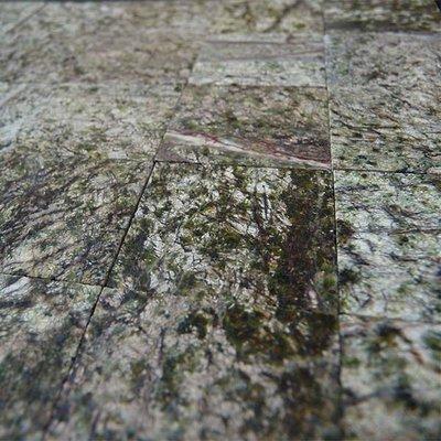 Echt marmeren tegels, 25*25*2 mm, kleur Emerald Forest Green