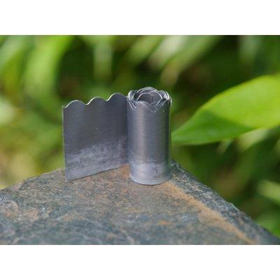 decoratief gerande lood 304*25 mm, met kleine golf