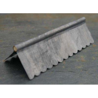 Gerold daknoklood, met kleine golf, 7.6 cm lang