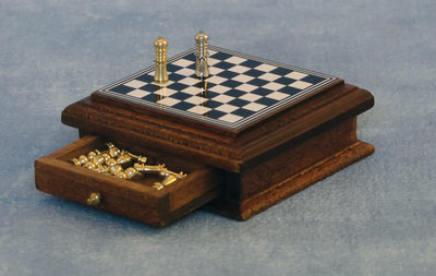 Schaakspel, de luxe met lade