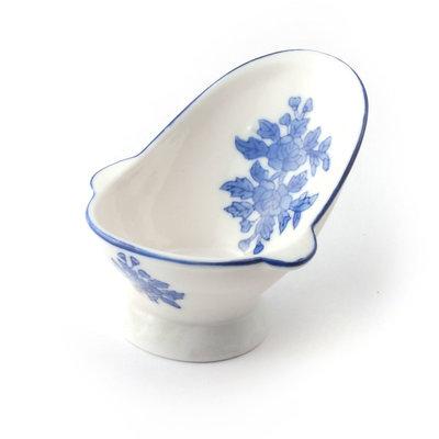 Blauwe keramisch zitbad