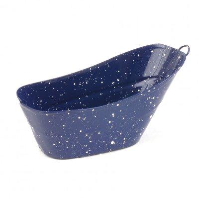 Blauw tinnen zitbad