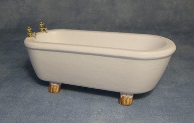 Ligbad wit met goudkleurig detail