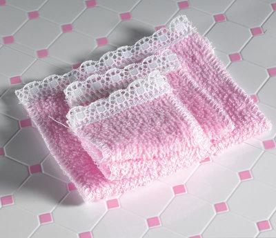 Setje roze handdoeken