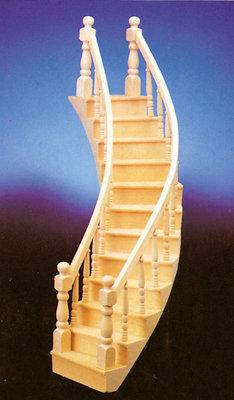 Linkszijdig gebogen trap