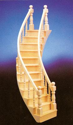 Rechtszijdig gebogen trap