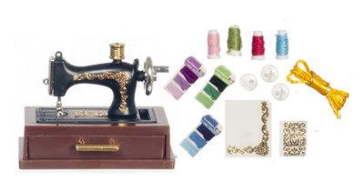 Zwarte naaimachine inclusief accessoires