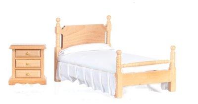 Bed+nachtkastje