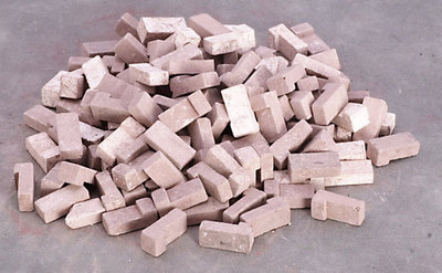 Bruine hoekbaksteentjes gemengd