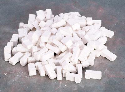 Witte hoekbaksteentjes gemengd