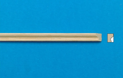 Blankhouten sierlatjes, afm. 300*5*4 mm