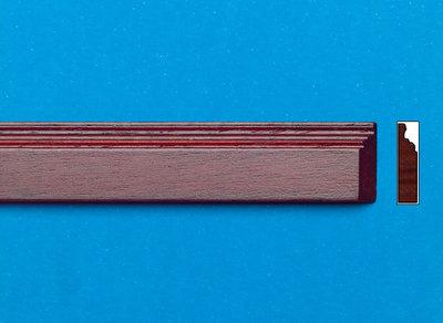 Mahonie houten gekleurde sierlatjes, afm. 450*16*3 mm
