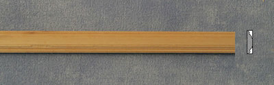 Blankhouten sierlatje, afm 600*14*4 mm