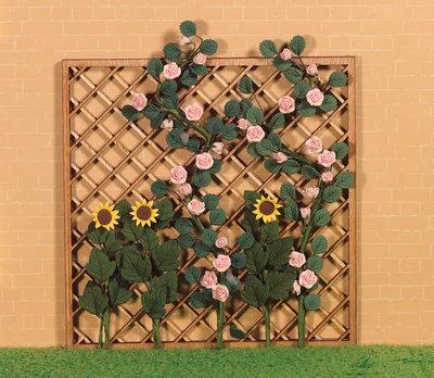 Houten plantenrek, afm. ca 15cm x 15cm x 0.5cm